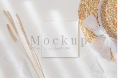 Photoshop Mockup,Table Number Mockup,5x5 Card Mockup