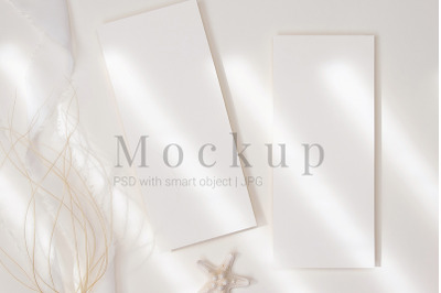 Invitation Card,4x9 Card Mockup,Styled Menu Card