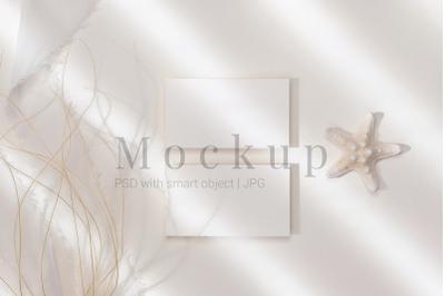 Invitation Mockup,Digital Mockup,3.5x2 Card Mockup