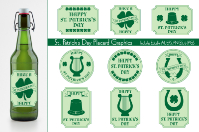 St. Patrick's Day Placard Graphics