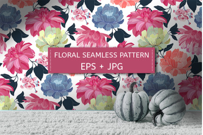 Colorful floral seamless pattern.