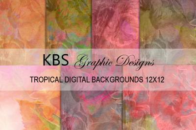 Tropical Digital Backgrounds