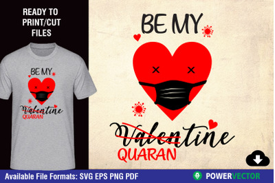 Be My Quarantine Funny Valentine Clipart