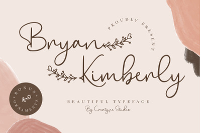 Bryan Kimberly Beautiful Typeface