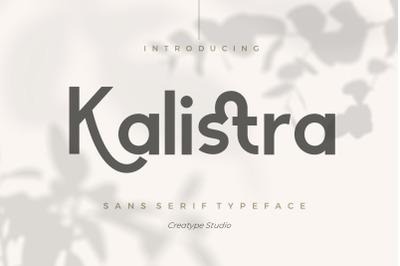 Kalistra Sans Serif Typeface