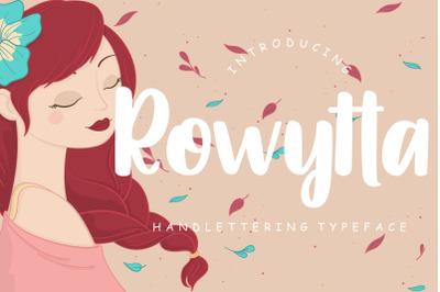 Rowytta Handlettering Typeface