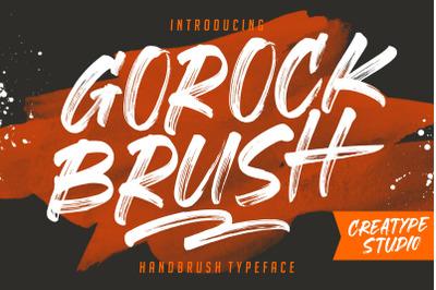 Gorock Brush Typeface
