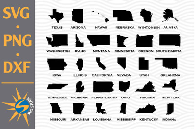 American Map Silhouette SVG, PNG, DXF Digital Files Include