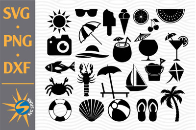 Summer Silhouette SVG, PNG, DXF Digital Files Include