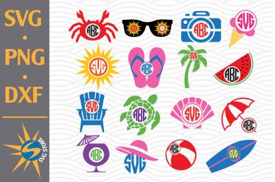 Summer Monogram SVG, PNG, DXF Digital Files Include