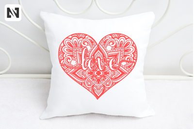 Heart Mandala Svg, Mandala Svg, Valentine's Day Svg