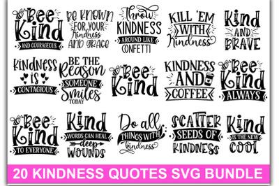 20 Kindness quotes SVG Bundle