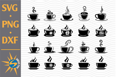 Coffee Cup SVG, PNG, DXF Digital Files Include