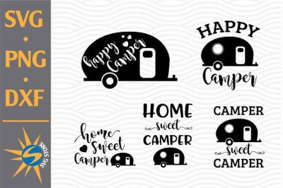 Camper Design Bundle SVG, PNG, DXF Digital Files Include