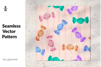 Hard candy seamless pattern