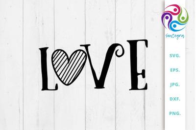 Valentine Love SVG File