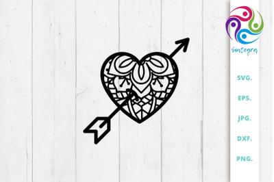 Zen Tangle Love Heart SVG File