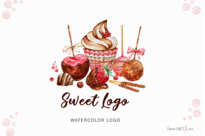 Premade Logo Cupcake, Strawberry Chocolate