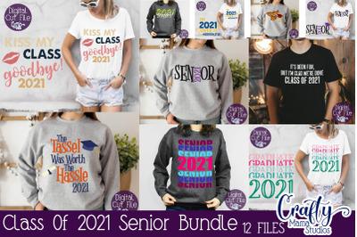 Senior 2021 SVG Bundle, Class Of 2021 Svg Senior Grad Bundle
