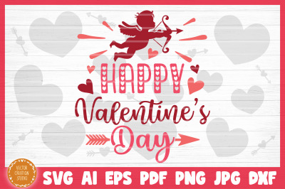 Happy Valentine's Day SVG Cut File
