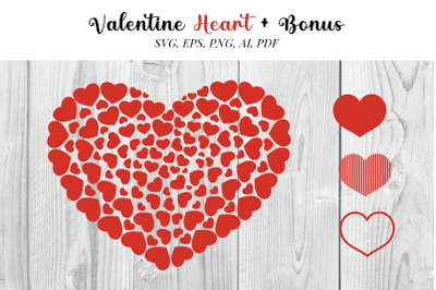 Heart SVG file with bonus