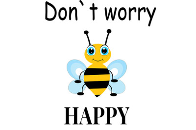 Bee svg, Cute bee svg, bee clip art, bee svg design, don`t worry be ha