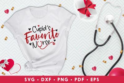 Cupid's Favorite Nurse, Nurse Valentine SVG, Nurse SVG
