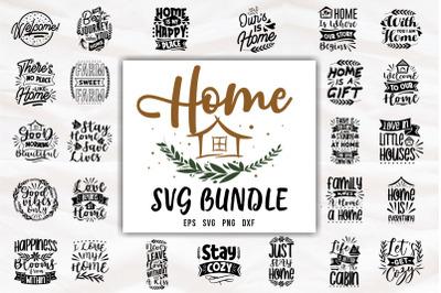 Home Inspiring Quotes SVG Bundle Lettering