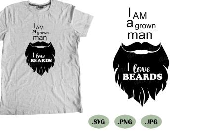 beard svg cut file, mustache silhouette, bearded man svg