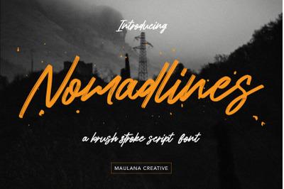 Nomadlines Brush Stroke Script Font