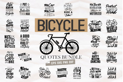 Bicycle Creative Quotes SVG Bundle