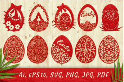 Decorative Easter eggs. SVG