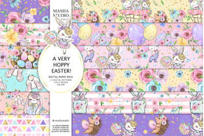 A VERY HOPPY EASTER! digital papers