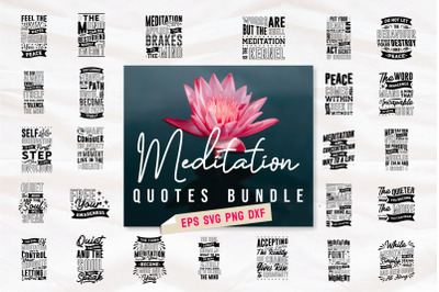 Meditation Inspirational Quotes SVG Bundle