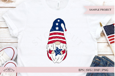 Patriotic Gnome SVG Cut Files
