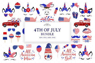 4th of SVG Bundle, Patriotic SVG Bundle
