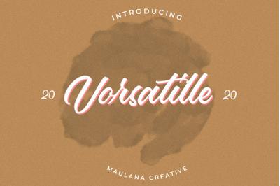 Vorsatille Modern Script Font
