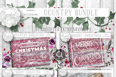 Vintage Christmas Cut Design BUNDLE