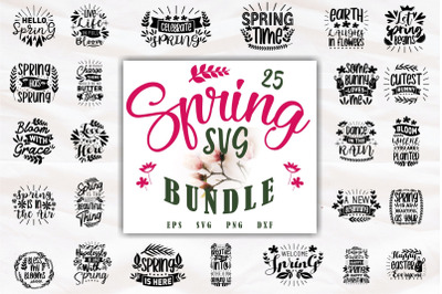 Inspiring Spring Quotes SVG Bundle, Beautiful Flowers Collection