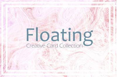 Suminagashi Marbled Texture Cards