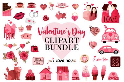 Valentine's Day Elements Vector Bundle SVG