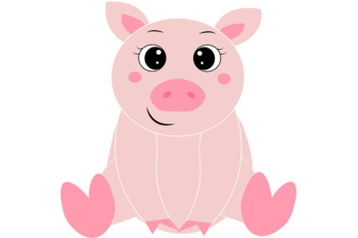 Pig  svg, Cute pig svg,  Funny Pig svg, Cute Animal svg. This file is