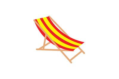 Sun Lounger Swimming Pool Vector Illustration