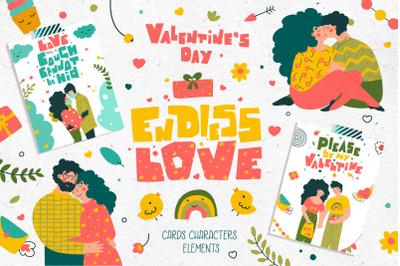 Endless love - Romantic illustrations