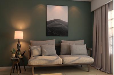 Livingroom scenes Mockup