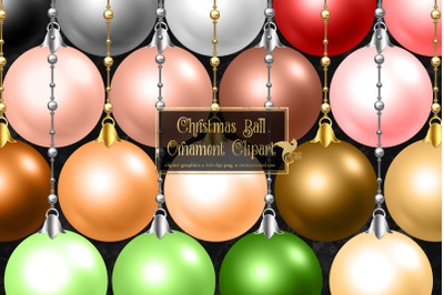 Christmas Ball Ornaments Clipart