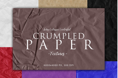 Crumpled Paper Textures Bundle
