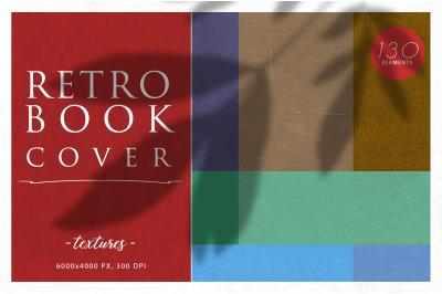 130 Retro Book Cover Textures Bundle