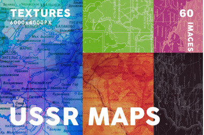 60 USSR Map Textures Bundle