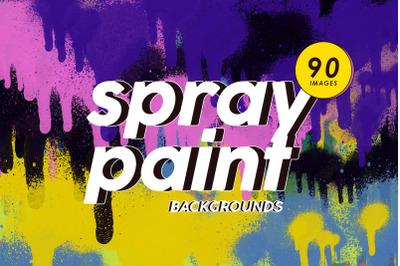 90 Spray Paint Backgrounds Bundle